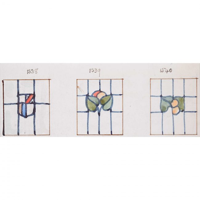 Florence Camm Three Stained Glass Windows Domestic Design Florence Camm Arts & Crafts TW Camm