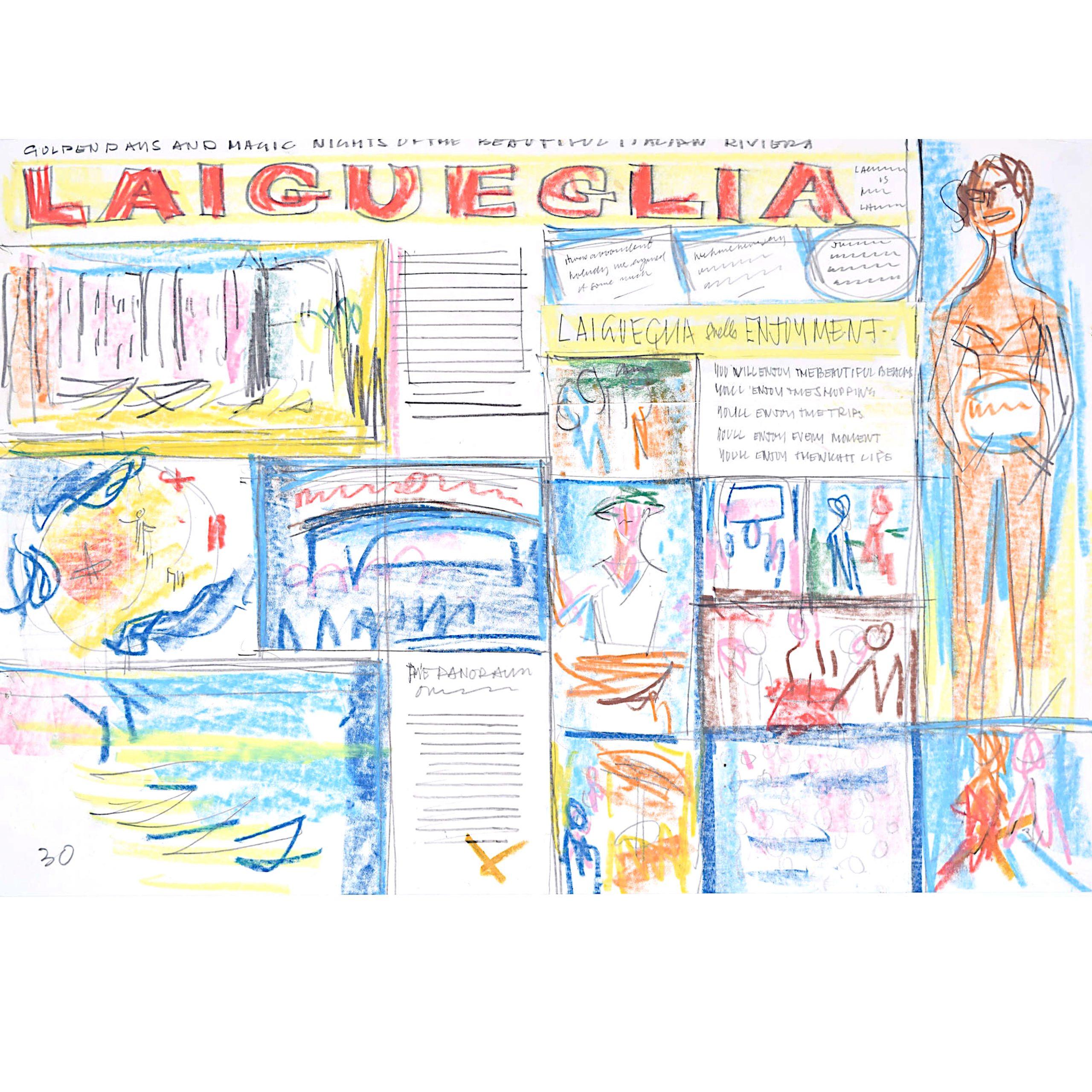 Laigueglia Holiday Brochure Design 3 1966 Peter Collins ARCA Mid Century Modern