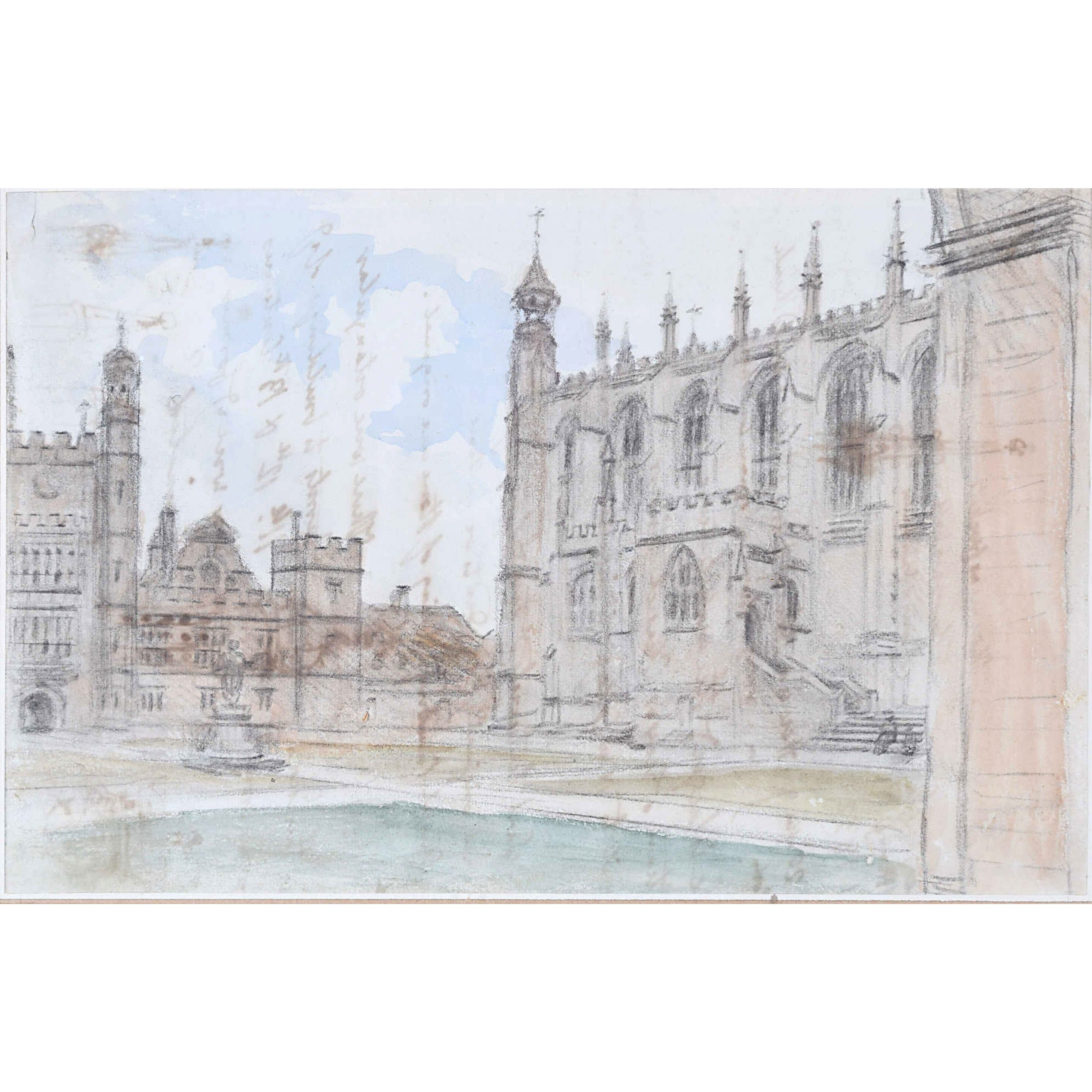 Dr William Crotch 1832 Eton College Chapel watercolour