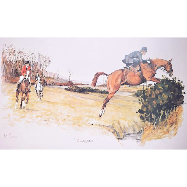 Daniel Crane Foxhunting Print 'Cleared' English Fox Hunting Hounds Horses