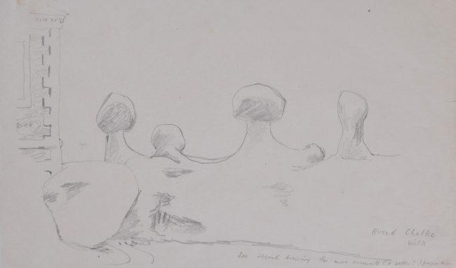 Clifford Ellis Broad Chalk Wiltshire sketch Modern British Art New Naturalists