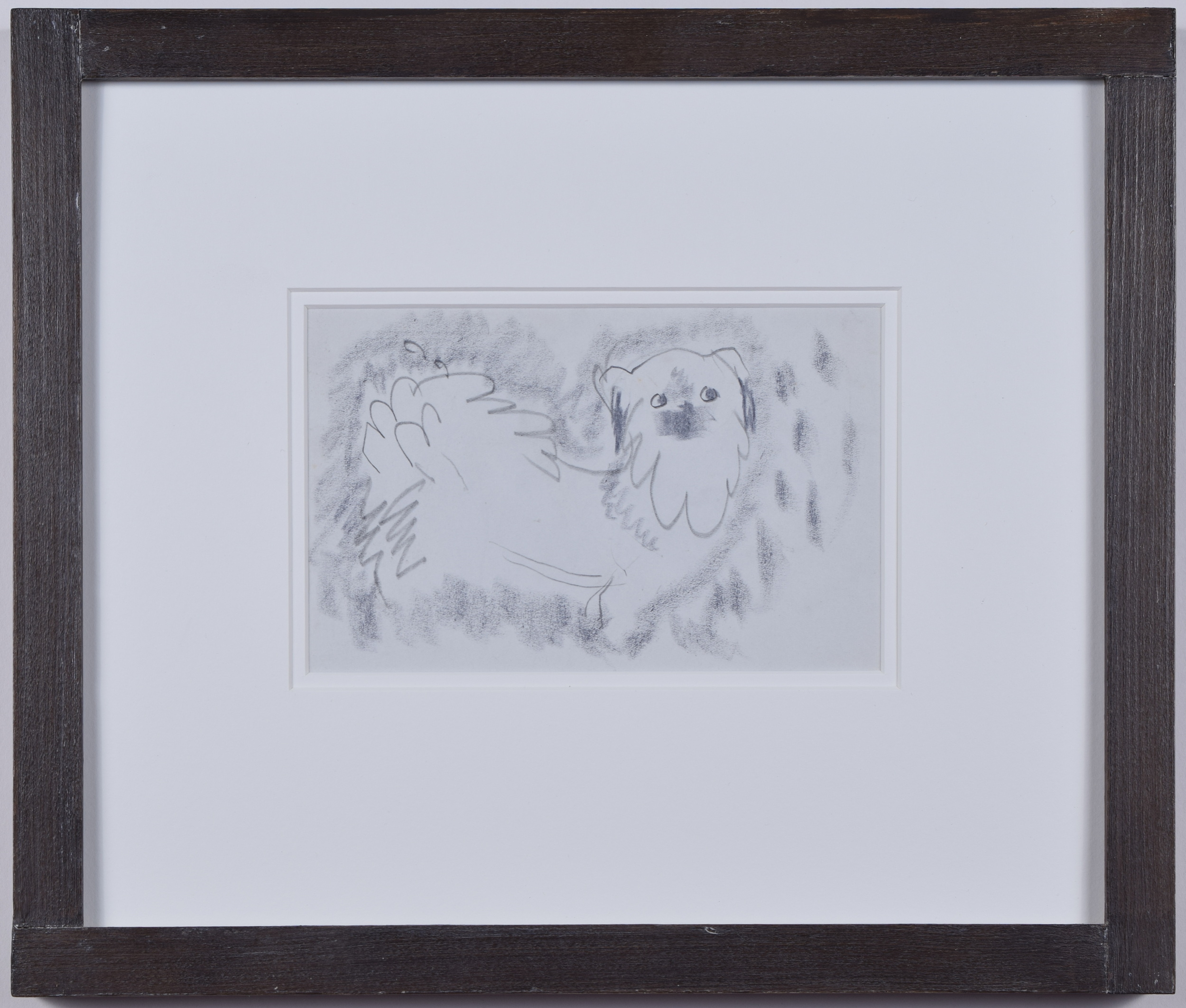 Clifford Ellis William Pug Dog II pencil sketch Mid Century Modern British Art