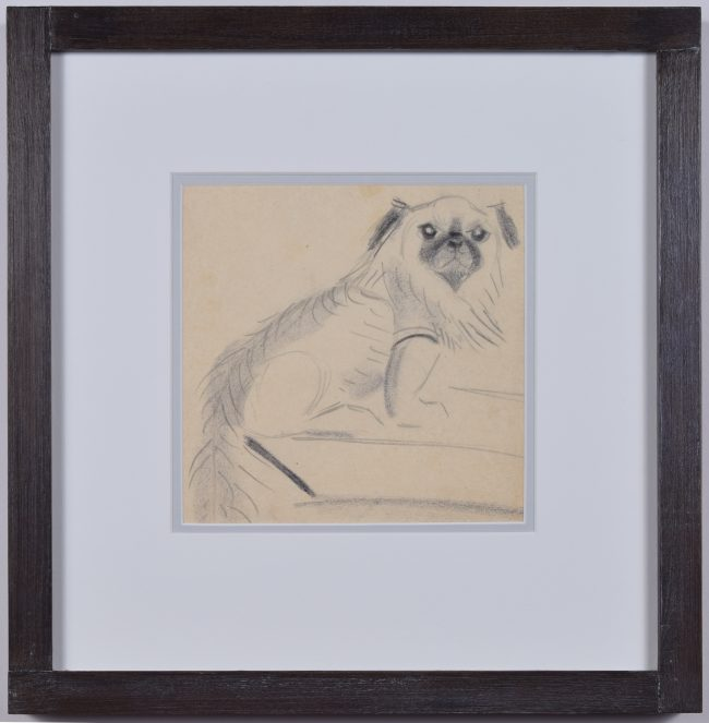 Clifford Ellis William the Pug pencil sketch
