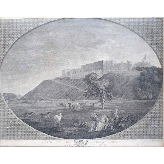 1782 View of Windsor Castle by James Fittler RA George Robertson John Boydell