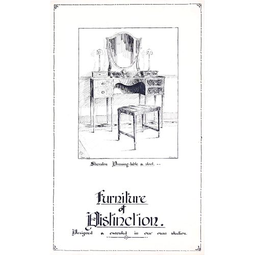 Furniture of Distinction 1930s poster design - George M Hammer designers London