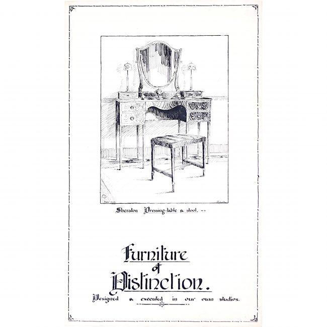 Furniture of Distinction 1930s poster design - George M Hammer designers London