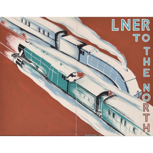 LNER Railway Art Deco original gouache design advertising poster