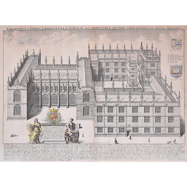 David Loggan Bodleian Library Oxford Aerial view ii 1675 engraving Bibliotheca