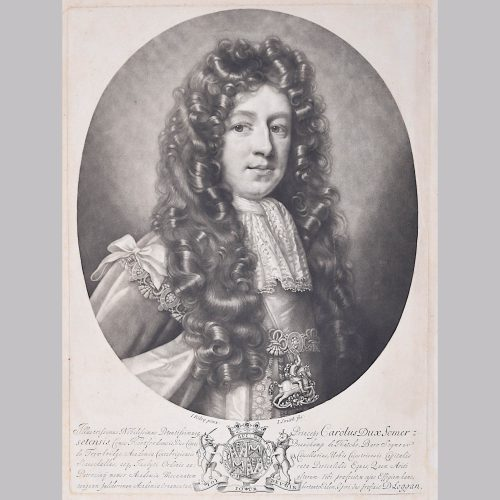 David Loggan Cambridge portrait Charles Duke of Somerset 1690