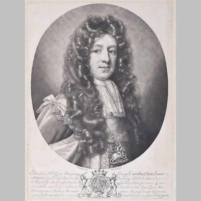 David Loggan Cambridge portrait Charles Duke of Somerset 1690