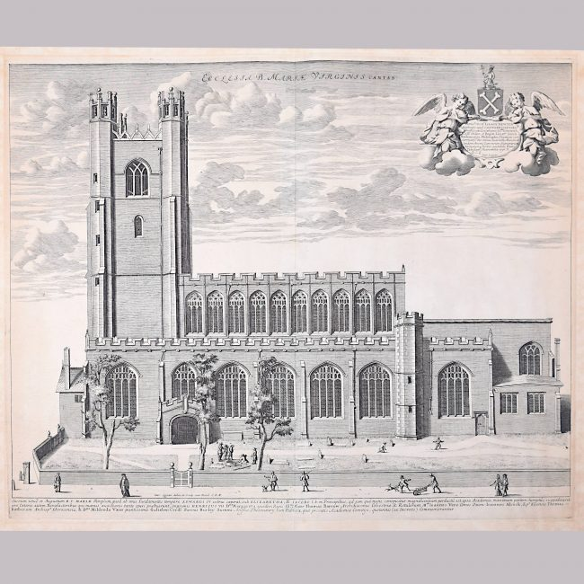 David Loggan Great St Mary's Church Cambridge University engraving 1690