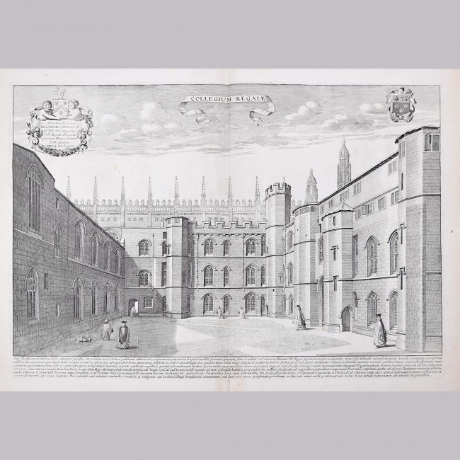 David Loggan King's College Cambridge engraving 1690