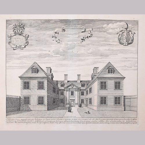 David Loggan Trinity College Cambridge Bishop's Hostel engraving 1690