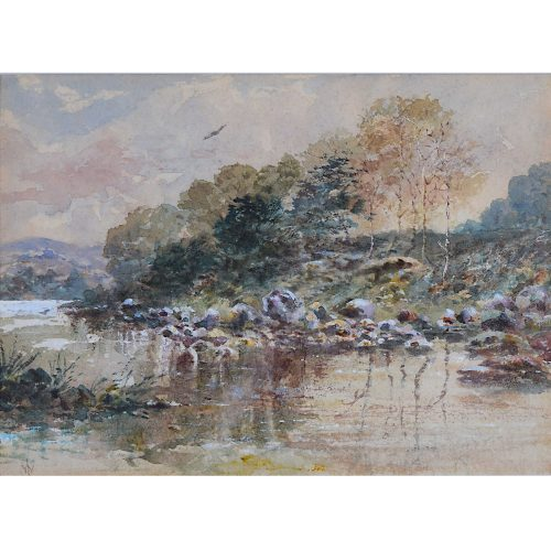 The River Scene William Logsdail English watercolour