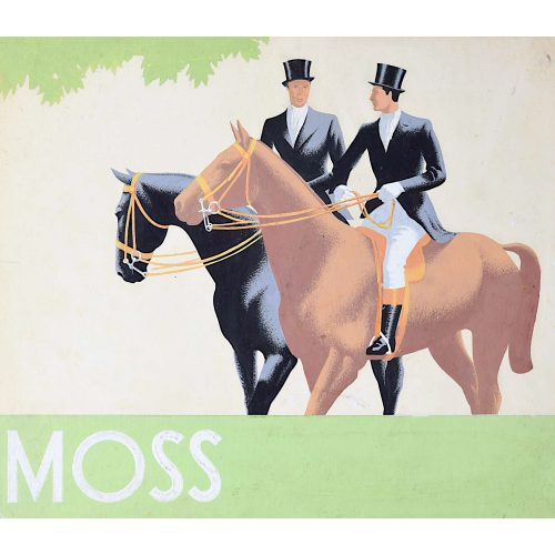 1930s Original Gouache Design for Moss Bros