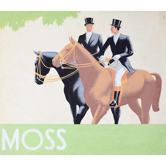 1930s Original Gouache Design for Moss Bros