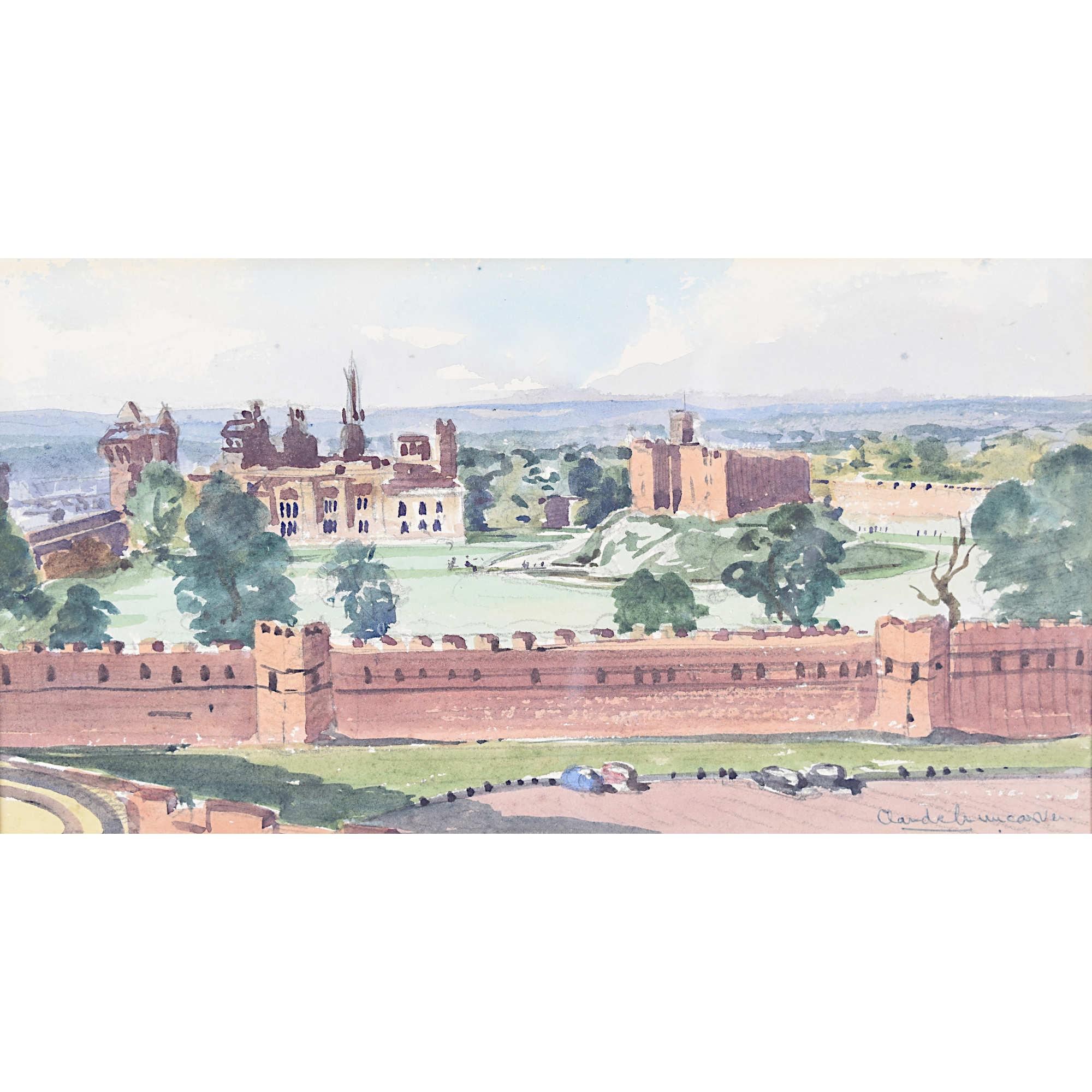Claude Muncaster Cardiff Castle Wales Watercolour painting
