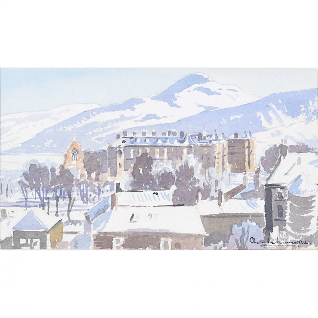 Claude Muncaster Palace of Holyroodhouse Scotland Watercolour painting Holyrood