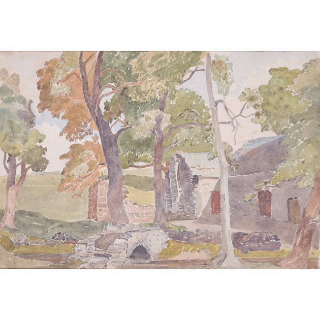 Claude Muncaster Shap Farmhouse Cumbria Watercolour England Britain art painting