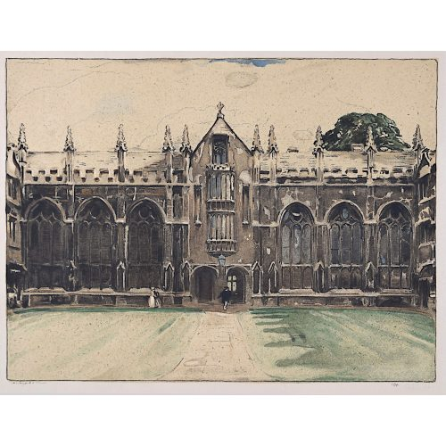 Nicholson University College, Oxford, William Nicholson lithograph 1905 Stafford Gallery