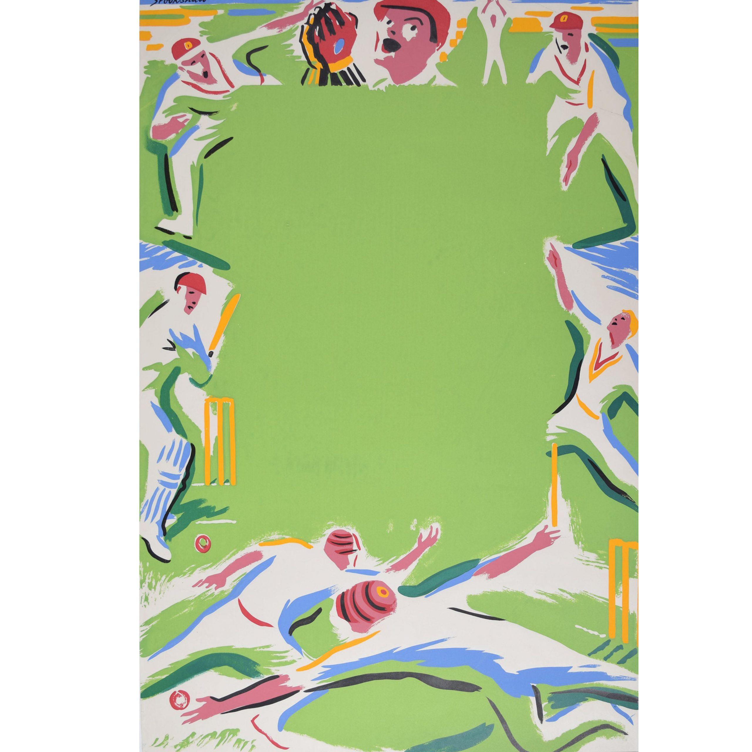 Percy Drake Brookshaw Cricket Original Coach Poster