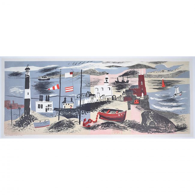 John Piper, Nursery Frieze I, Lithograph Modern British Art Surrealist Beach