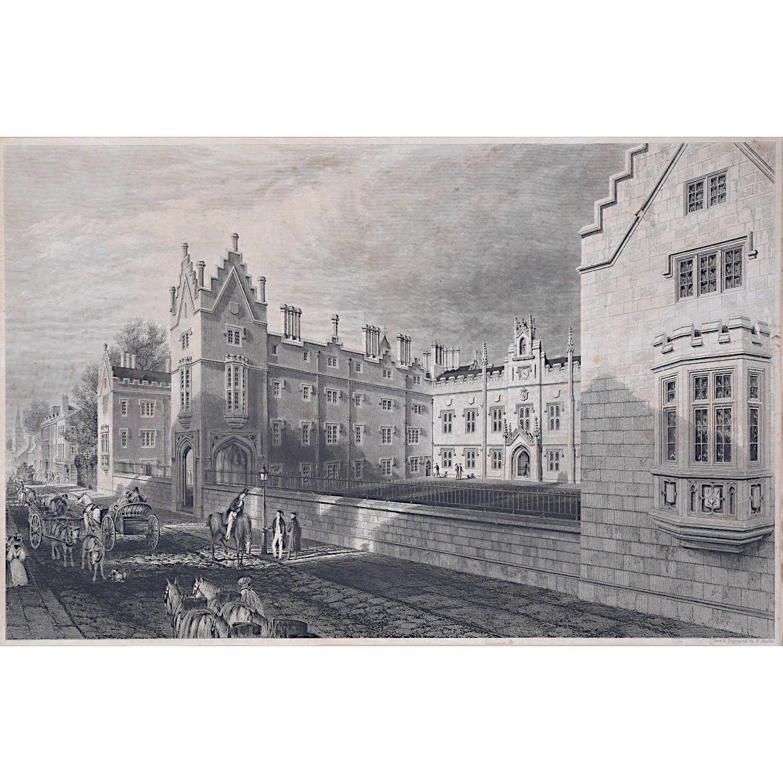Ebenezer Challis (1806-1881) Sidney Sussex College, Cambridge Engraving, 1834