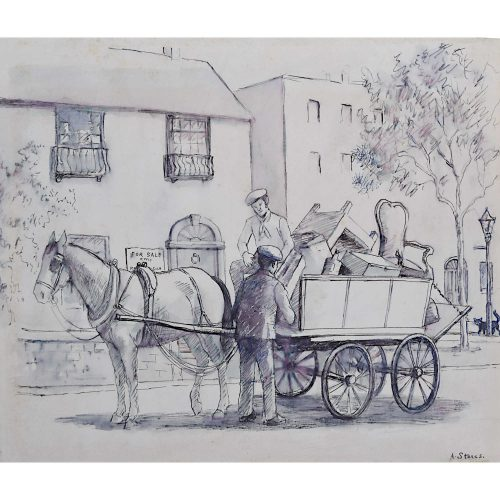 Chelsea Trotters, London, Angela Stones, Horse & Cart, Rag & Bone Man, Junk!