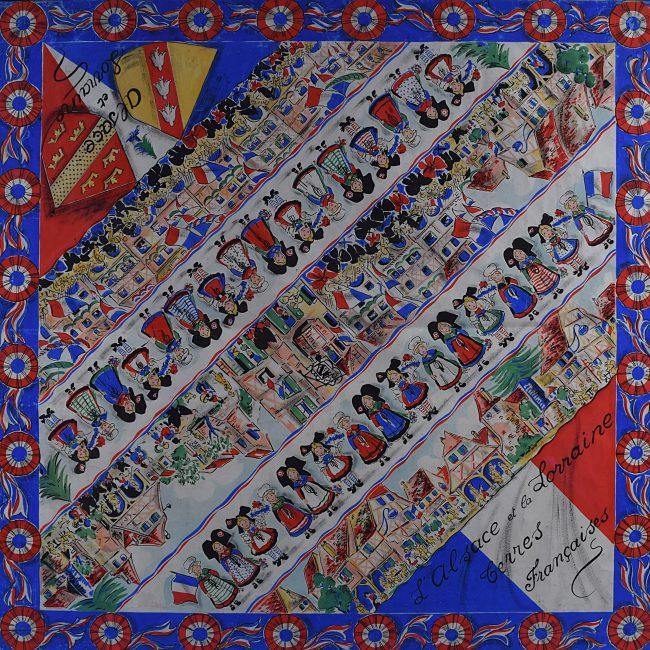 Bianchi Ferrier Scarf Design 1945 Alsace Lorraine
