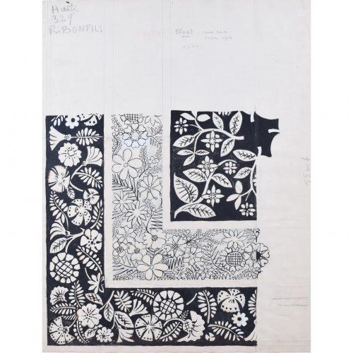 Robert Bonfils Bianchini Ferier 1920 art deco scarf design Haiti