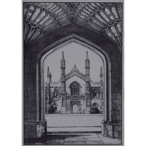 Corpus Christi College Cambridge Great Gate by Tony Broderick print