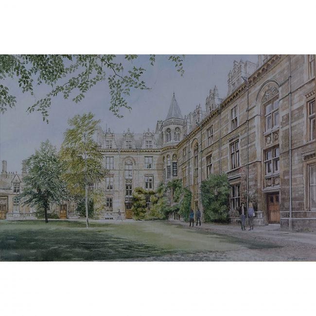 Gonville and Caius College Cambridge print Jane Carpanini