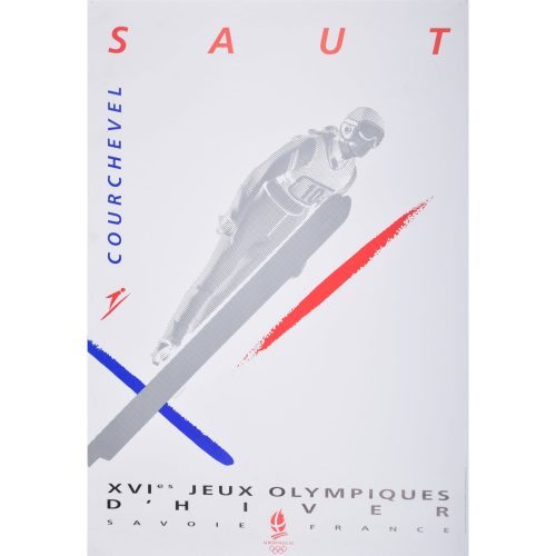 Courchevel 16th Winter Olympics poster Albertville France 1992: Saut - Ski Jump
