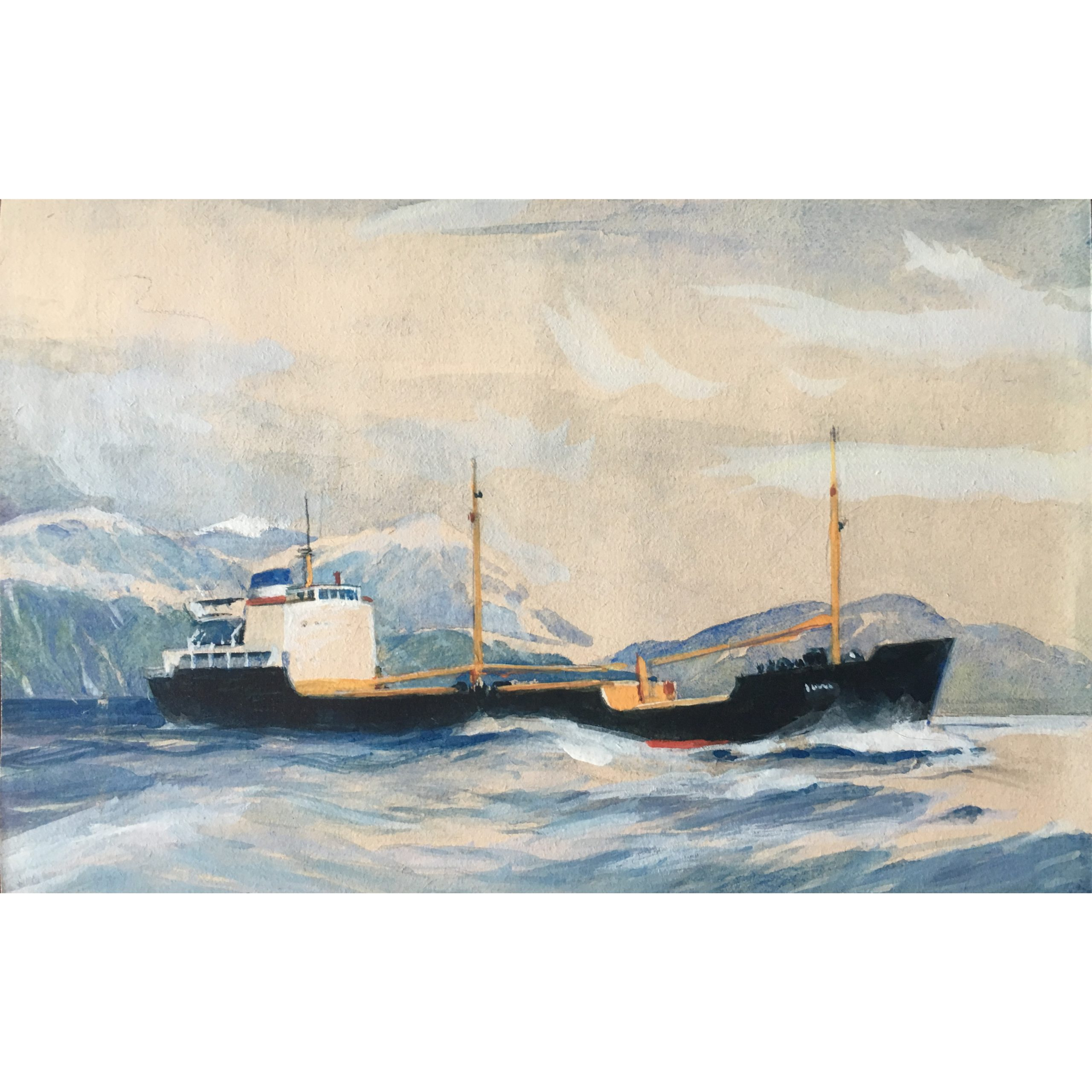 Laurence Dunn Otra painting maritime art ship boat coastal shipping
