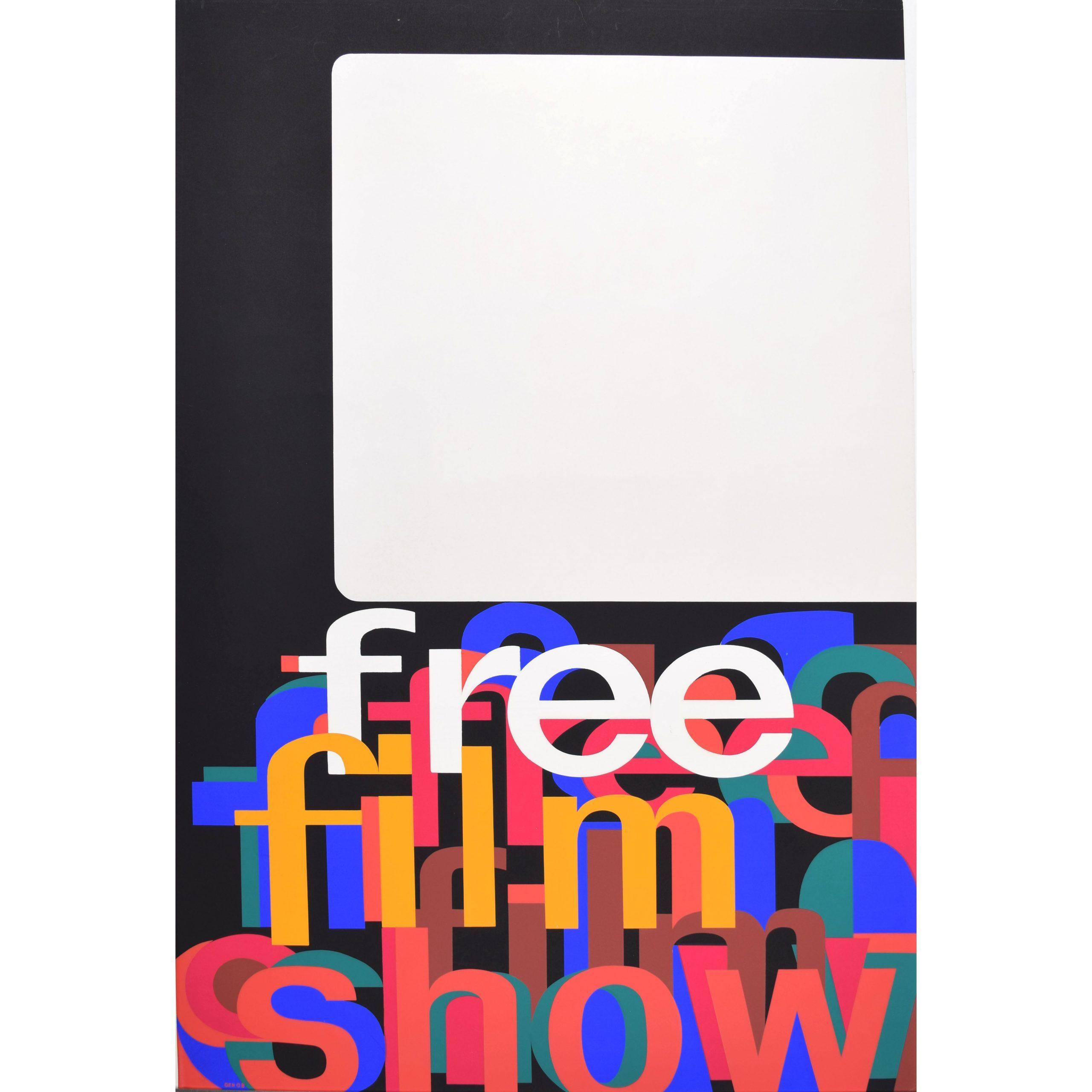 Free Film Show Original Poster