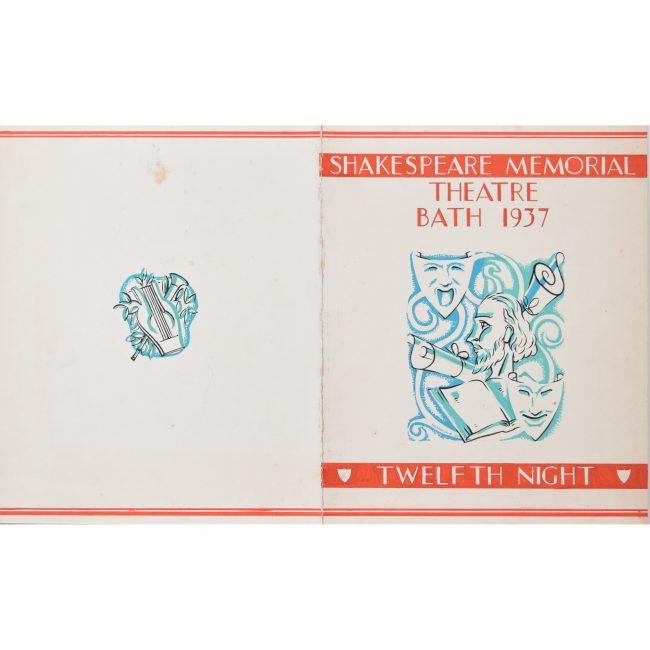Hammond Art Deco gouache original artwork 1937 Shakespeare Twelfth Night programme