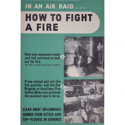 Anonymous In an air raid how to fight a fire