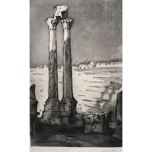 Louise Ibels: Arles Roman Theatre - Etching and Aquatint