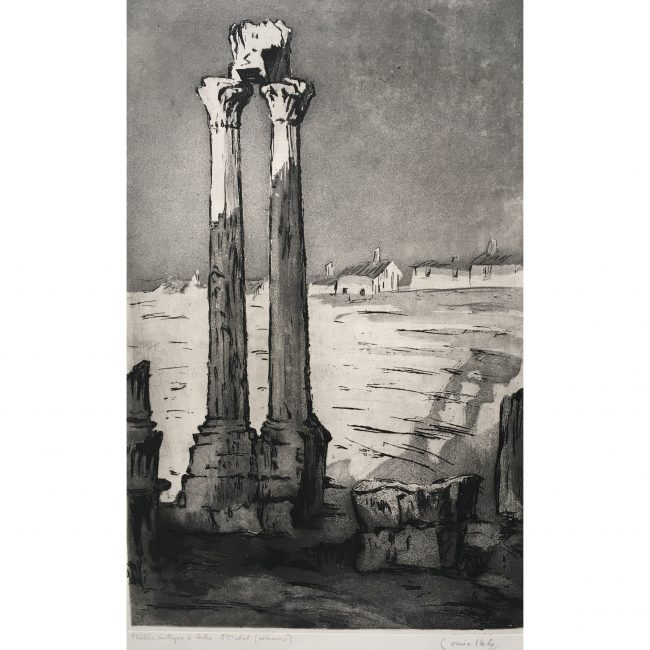 Louise Ibels: Arles Roman Theatre - Etching and Aquatint