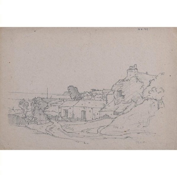 Claude Muncaster Canal Foot Ulverston Canal Morcambe Lancashire Pencil Sketch