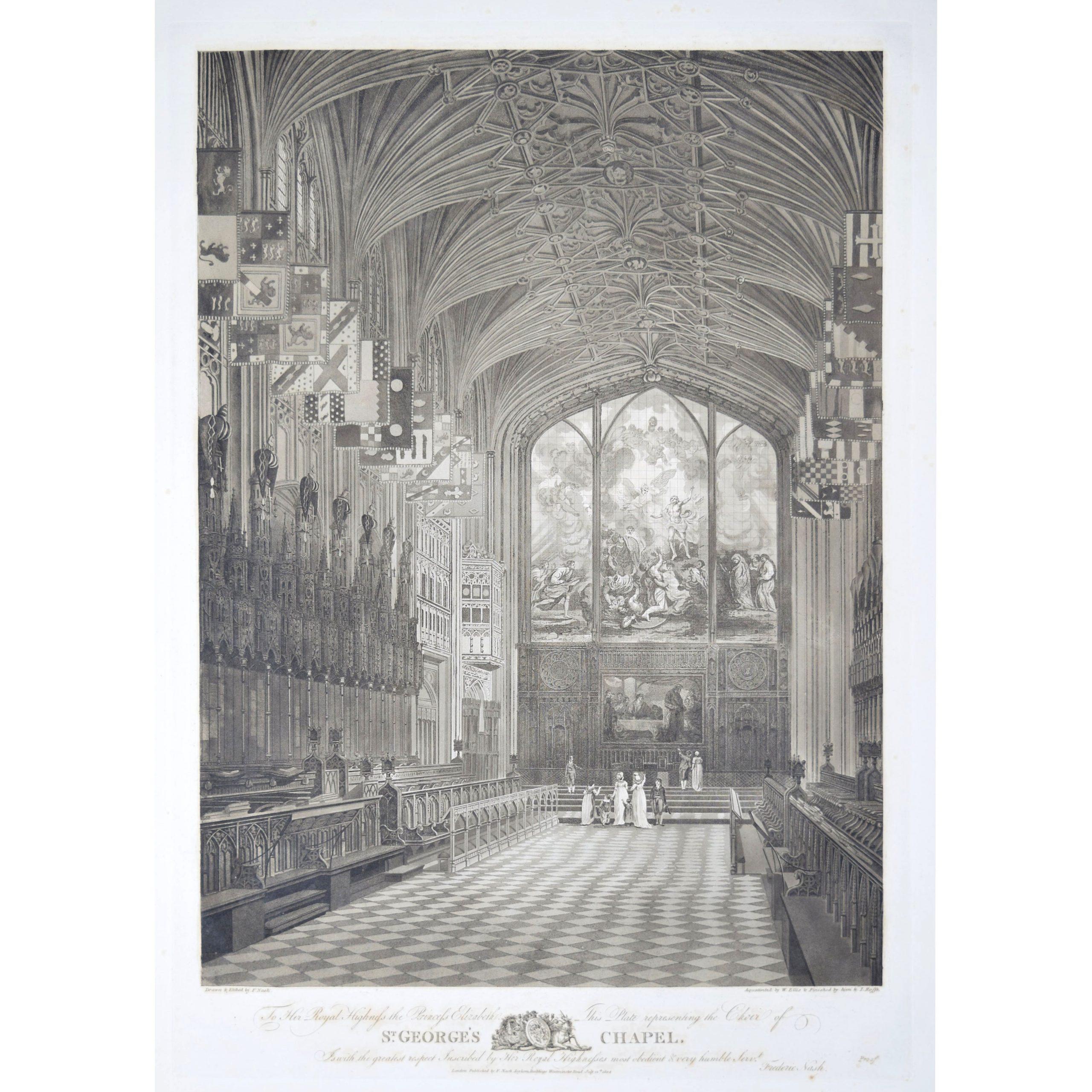 Nash (1782-1856) The Choir of St George's Chapel, Windsor