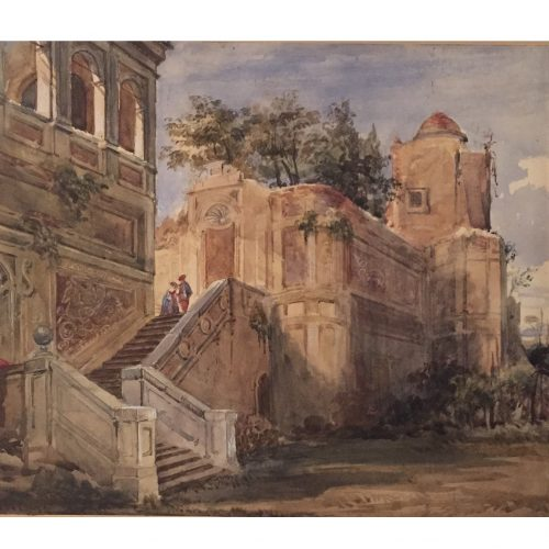 Joseph Nash Ruins of an Italian Villa Watercolour