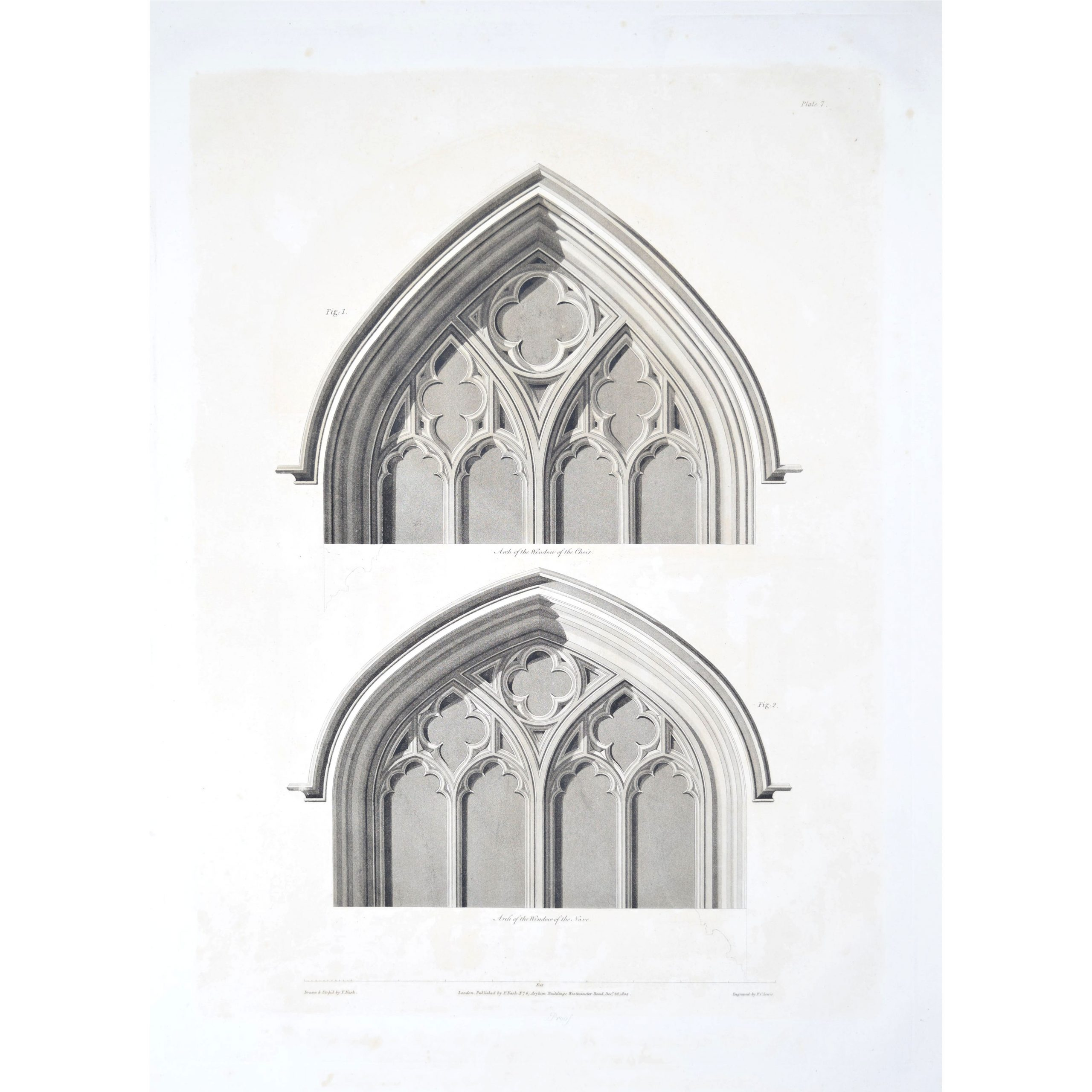 Nash 1804 Etching St George's Chapel Windsor Castle