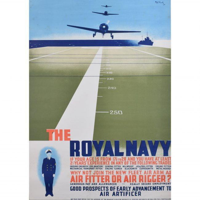 Pat Keely: Join the Royal Navy recruitment poster 1939 World War 2 Fleet Air Arm