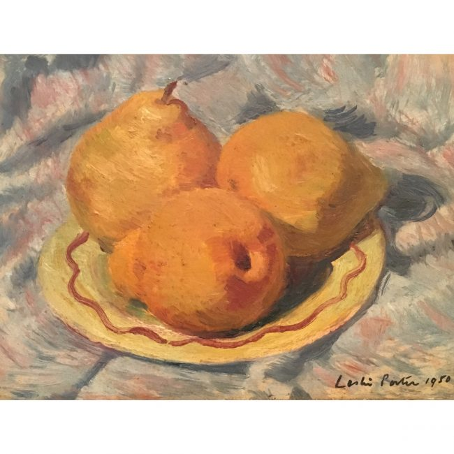Leslie Porter Still Life with Pears Oil on Board
