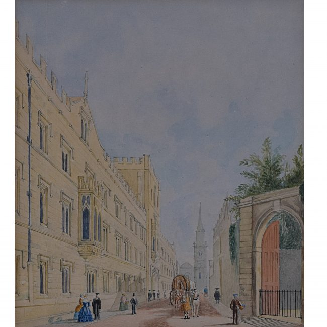 George Pyne, Exeter College, Oxford, Watercolour