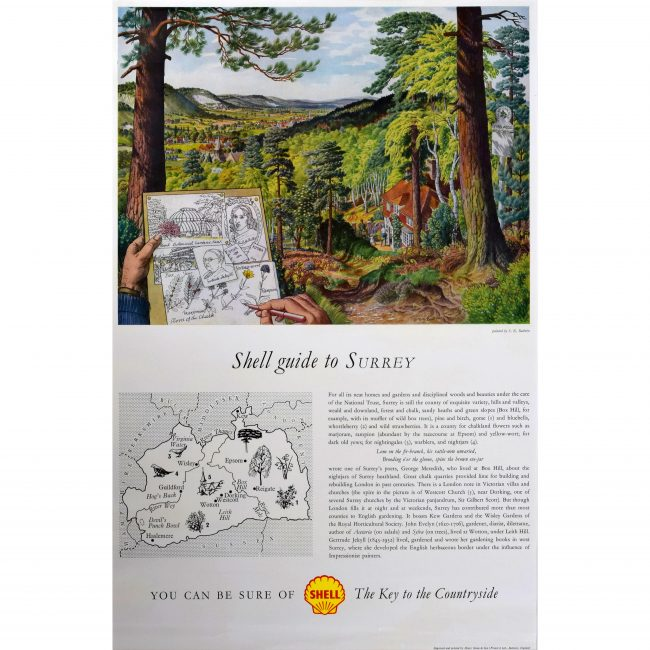 Stanley Roy Badmin Shell Guide to Surrey