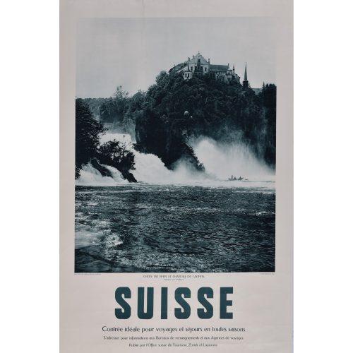 Suisse - Chutes du Rhin - Rheinfall - Waterfalls: 1925 Swiss original poster