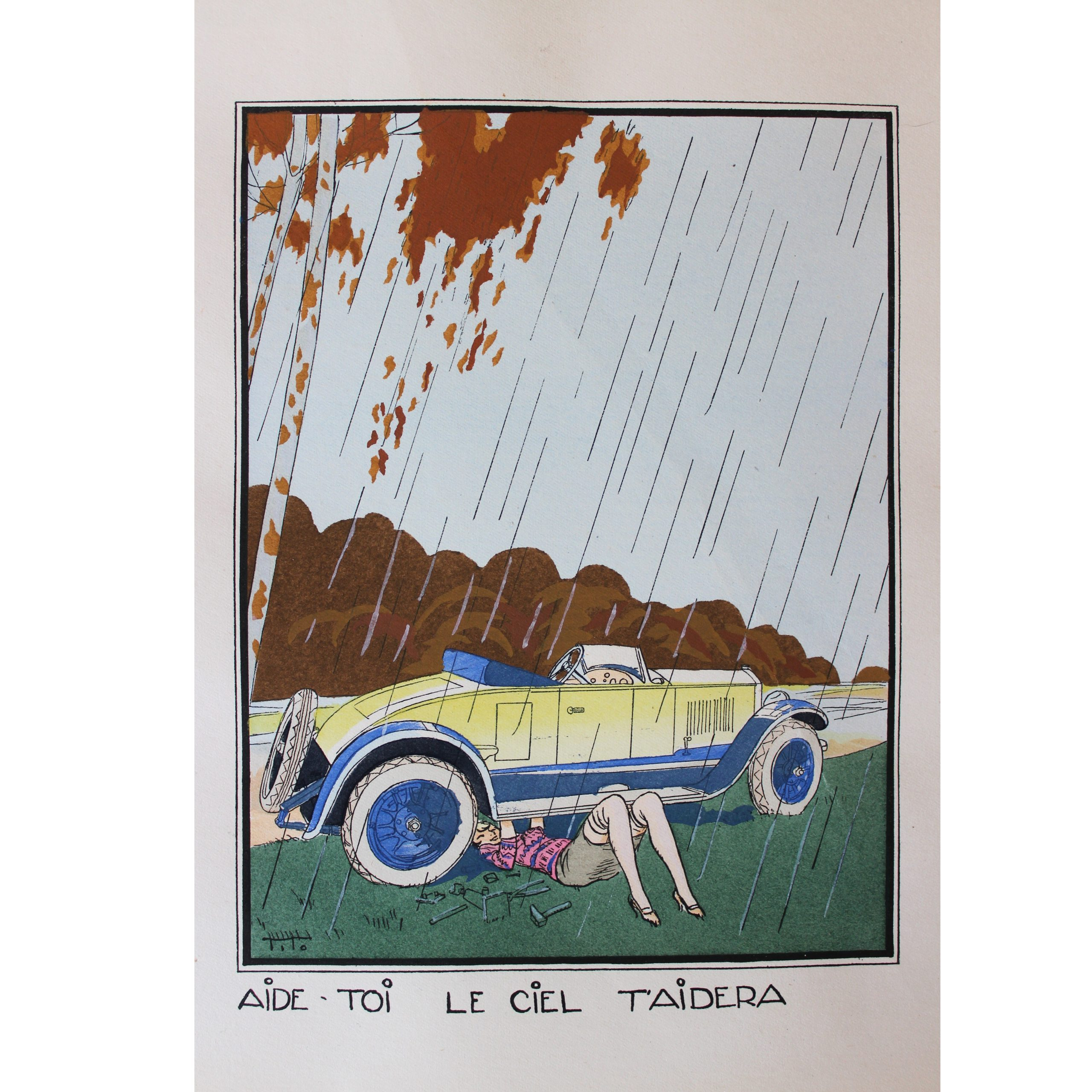 Ettore Tito: Quatres Proverbes Par Tito - four hand-coloured pochoir prints