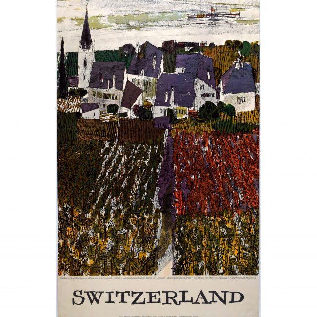 Original Poster - Hugo Wetli: Autumn on Lake Geneva